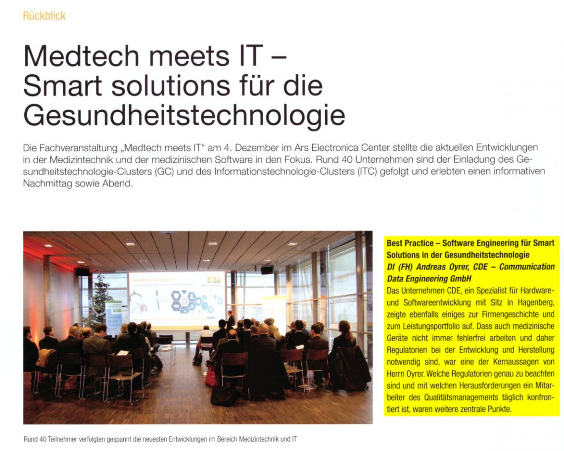 CDE bei Medtech meets IT